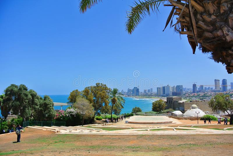 Panorama de Tel Aviv de la ville de Jaffa l'israel 2013 photographie stock