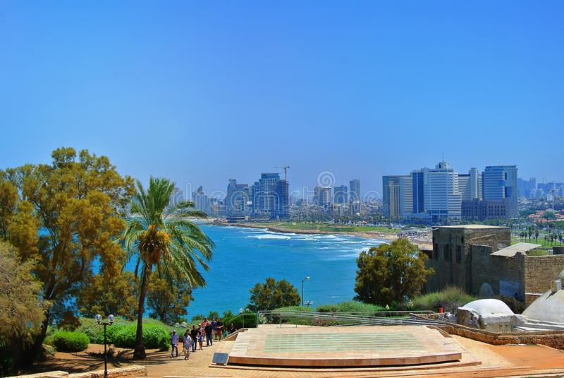 Panorama de Tel Aviv de la ville de Jaffa l'israel 2013 images stock