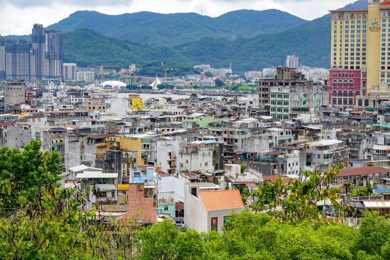 Panorama de telhados de Macau fotos de stock royalty free