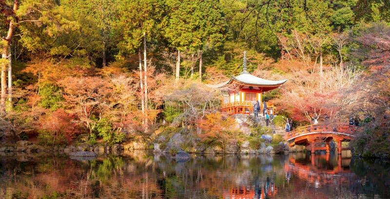Panorama de temple de Daigoji photo stock