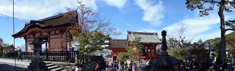 Panorama de temple de Kiyomizu, Kyoto image stock