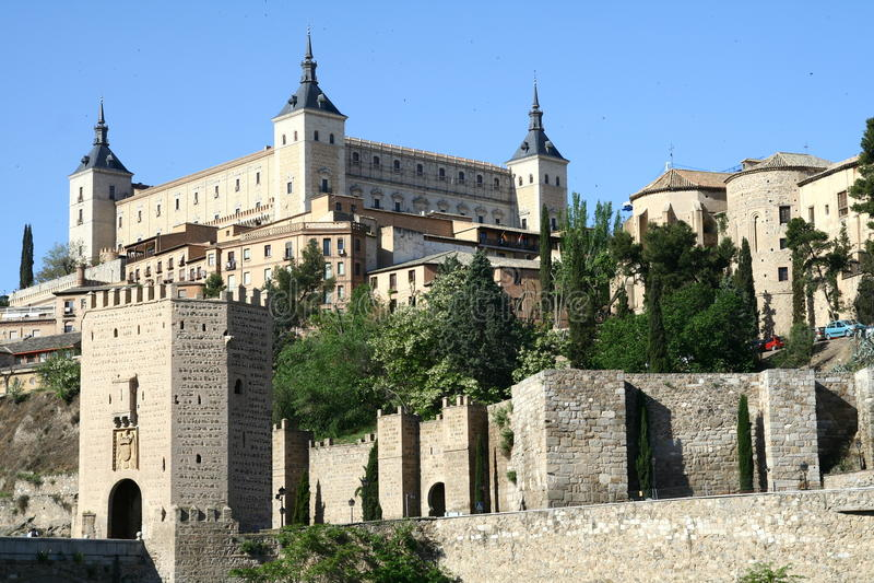 Panorama de Toledo images stock