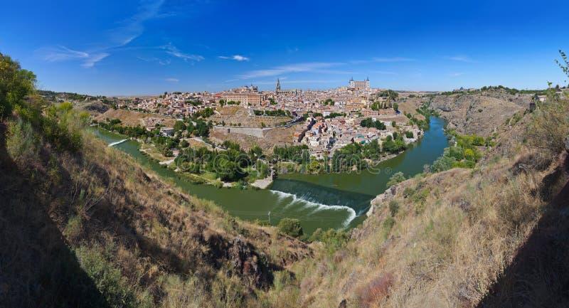 Panorama de Toledo Spain imagens de stock royalty free