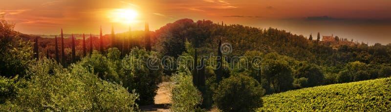Panorama de Toscânia imagens de stock