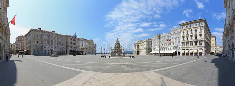 Panorama de Trieste fotos de archivo