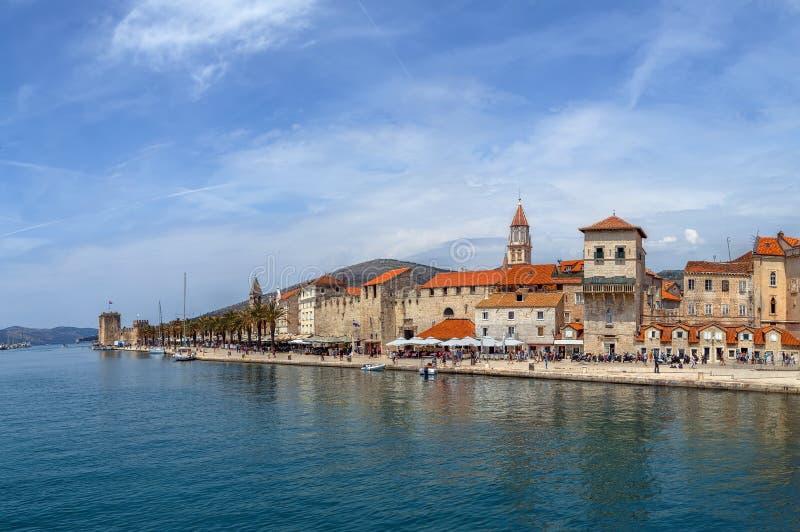 Panorama de Trogir, Croatia fotografía de archivo