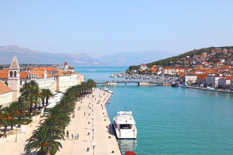 Panorama de Trogir, Croatia fotografía de archivo libre de regalías