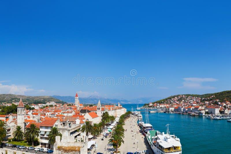 Panorama de Trogir en Croatia imágenes de archivo libres de regalías