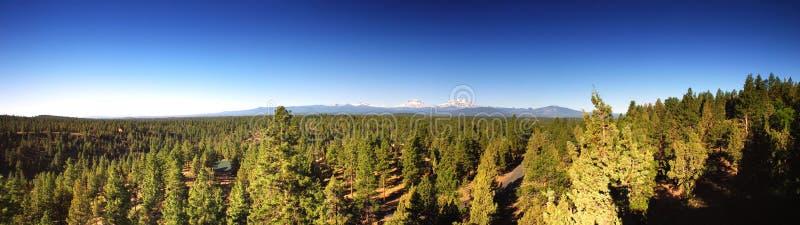 Panorama de trois montagnes de soeurs image libre de droits