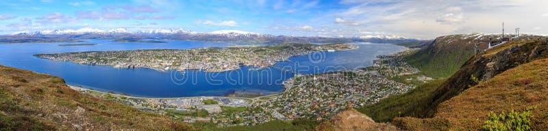 Panorama de Tromso imagen de archivo libre de regalías