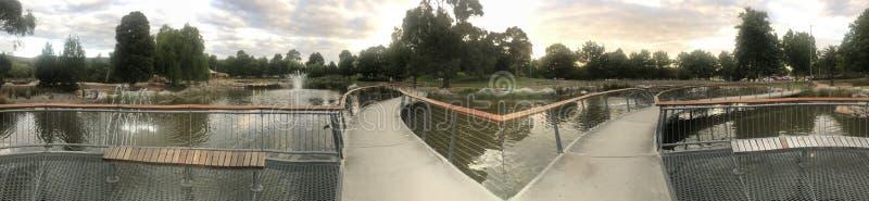 Panorama de uma ponte fotografia de stock royalty free