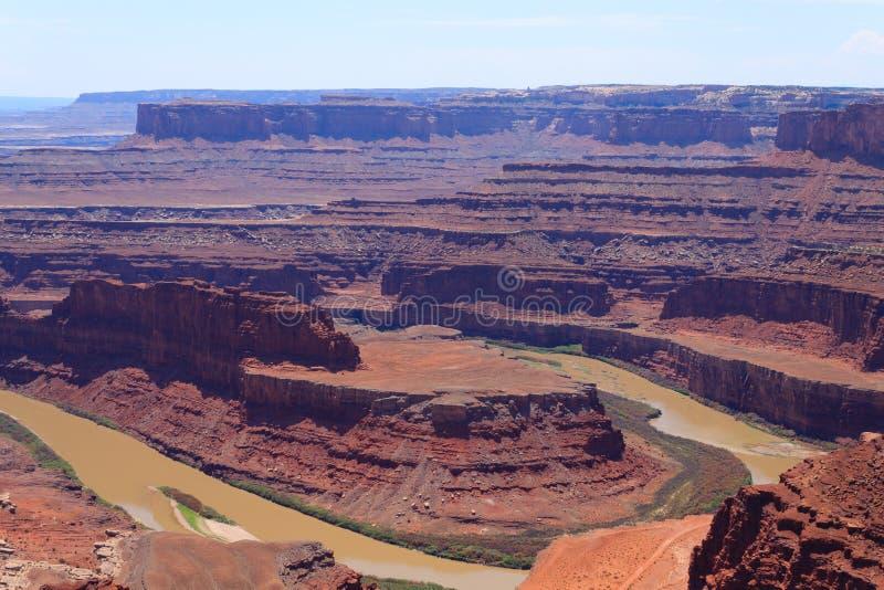 Panorama de Utah Barranco del río Colorado imagenes de archivo