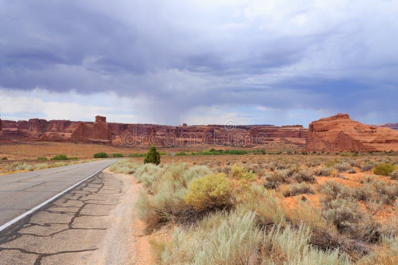 Panorama de Utah del parque nacional de los arcos fotografía de archivo libre de regalías
