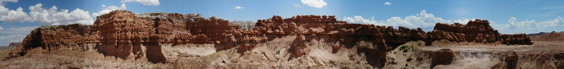 Panorama de vallée de lutin images libres de droits