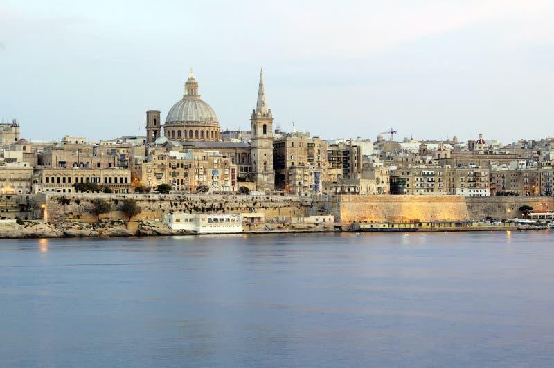 Panorama de Valletta, Malte photos stock