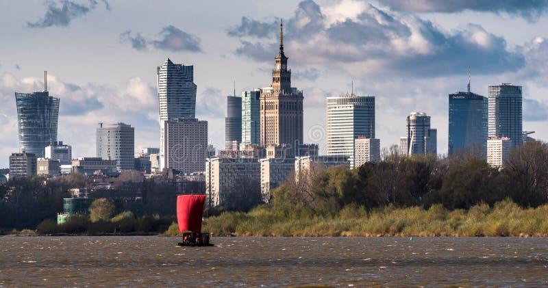 Panorama de Varsovia imagen de archivo libre de regalías