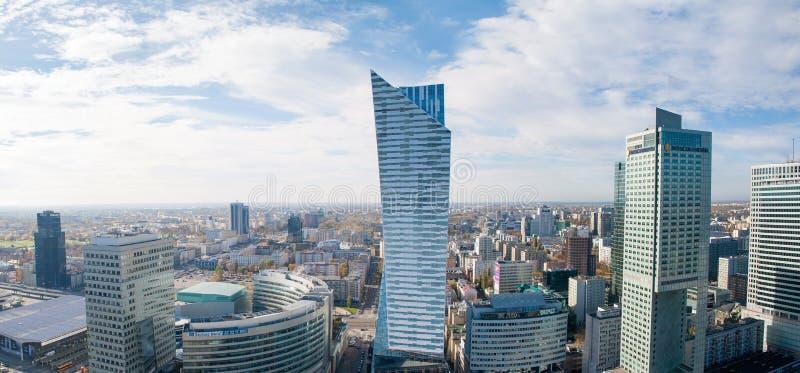 Panorama de Varsovie images stock