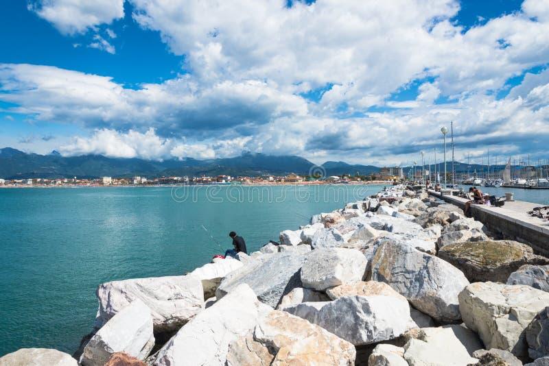 Panorama de Viareggio, Toscane, Italie image libre de droits