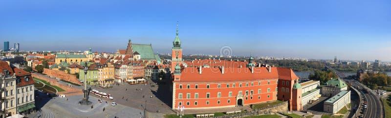 Panorama de vieille ville à Varsovie photos libres de droits
