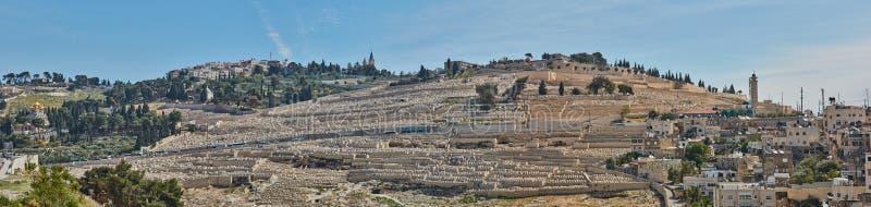 Panorama de vieille ville de Jérusalem images stock