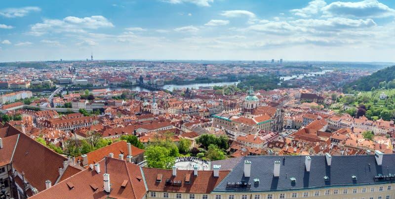 Panorama de vieille ville Prague photographie stock libre de droits