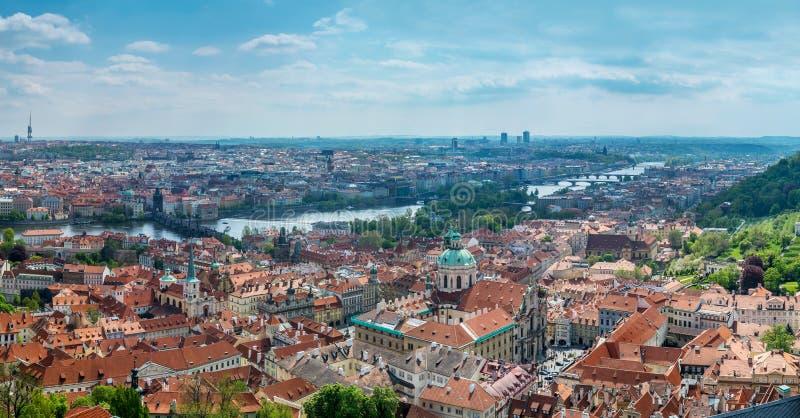 Panorama de vieille ville Prague photo libre de droits