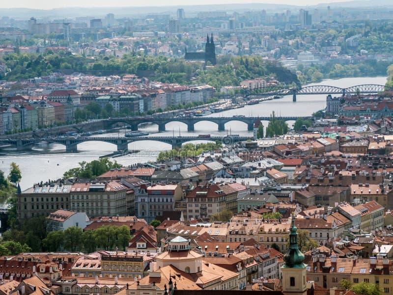 Panorama de vieille ville Prague photo stock