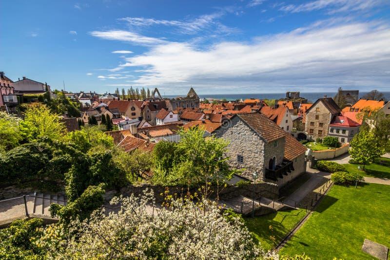 Panorama de Vik en Gotland, Suecia imagenes de archivo