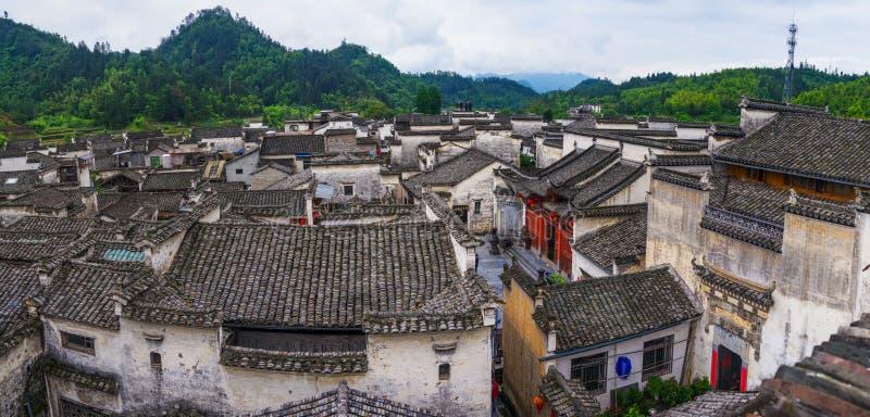 Panorama de village de Xidi photographie stock libre de droits