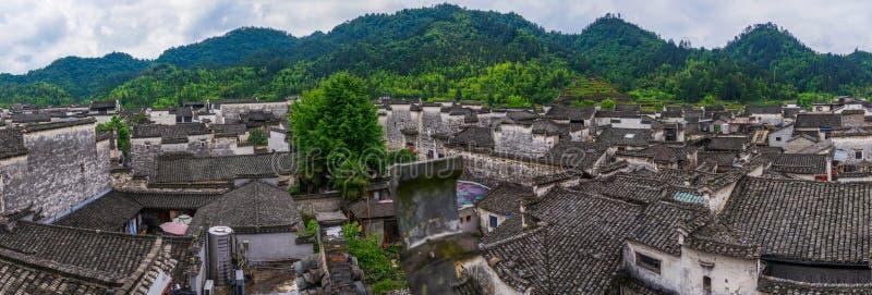 Panorama de village de Xidi photo libre de droits