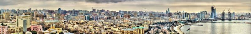 Panorama de ville de Bakou photo libre de droits
