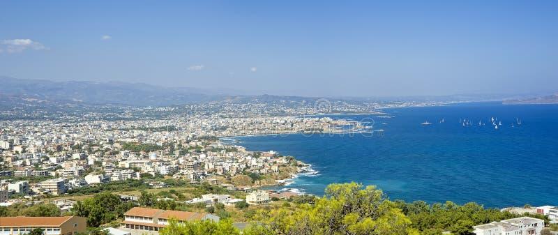Panorama de ville de Chania image stock