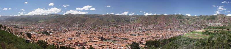 Panorama de ville de Cusco (Cuzco) image stock