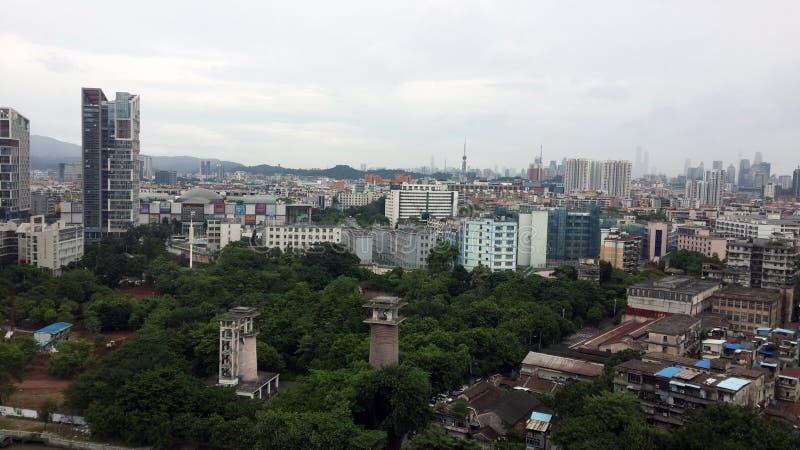 Panorama de ville de Guangzhou images libres de droits