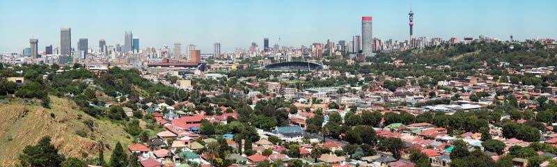 Panorama de ville de Johannesburg images stock