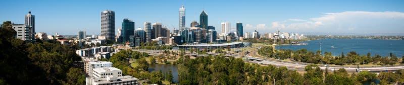 Panorama de ville de Perth photo stock