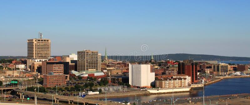 Panorama de ville de saint John, Nouveau Brunswick image libre de droits