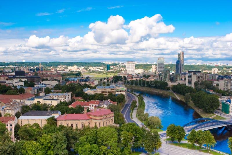Panorama de Vilnius imagenes de archivo