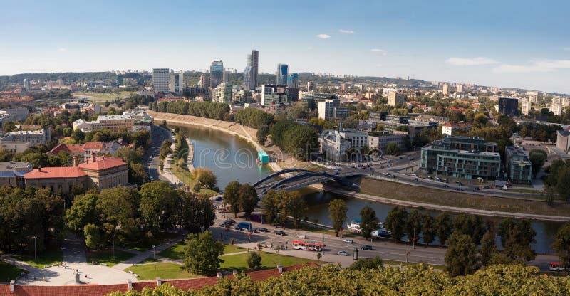 Panorama de Vilnius images libres de droits
