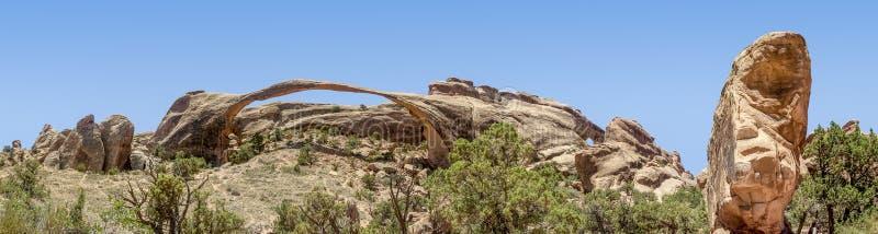 Panorama de voûte de paysage - arque le parc national photos stock