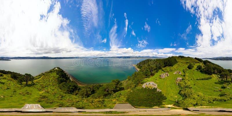 Panorama de 360 VR, península de Miramar, Wellington NZ fotografia de stock
