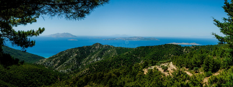 Panorama de vue d'îles image libre de droits