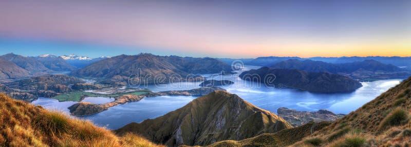 Panorama de Wanaka do lago foto de stock royalty free