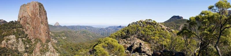 Panorama de Warrumbungles foto de archivo libre de regalías