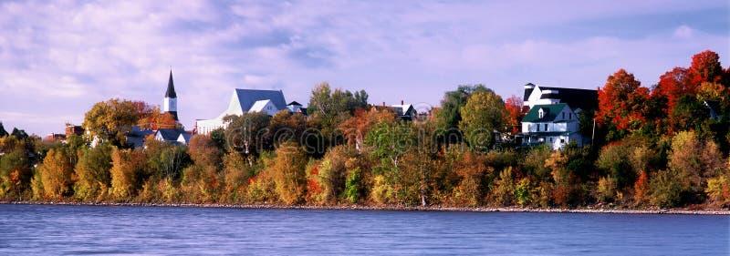 Panorama de Woodstock no outono imagem de stock royalty free