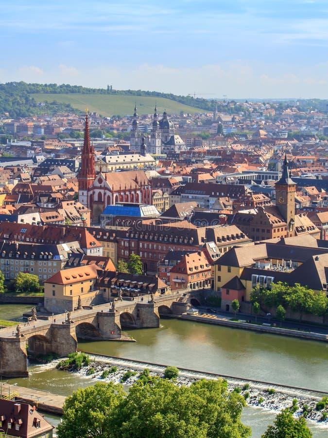Panorama de Wurtzbourg images stock