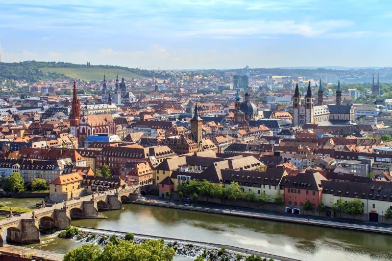 Panorama de Wurtzbourg photo stock