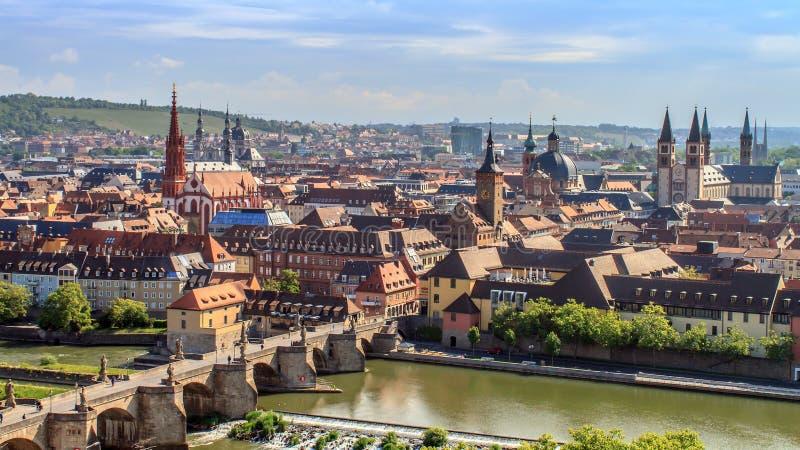 Panorama de Wurzburg fotografía de archivo