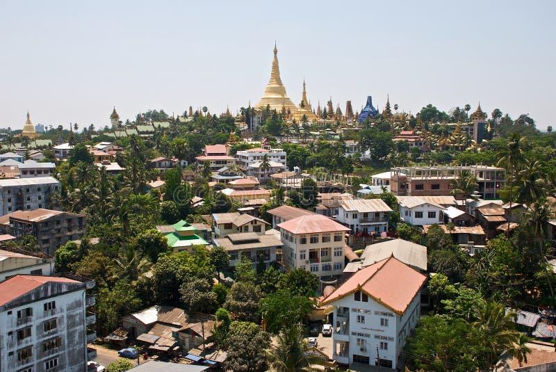 Panorama de Yangon foto de stock royalty free