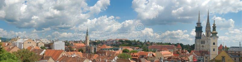 Panorama de Zagreb photo libre de droits